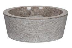 Striped Marble Vessel Sink - White - WA062GREY by Rocksinks on Etsy https://www.etsy.com/listing/247408668/striped-marble-vessel-sink-white