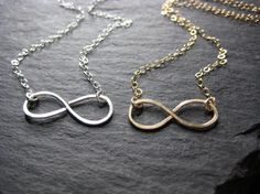 Great Gift Idea for the holidays!  Infinity Necklaces in Gold or Silver by JewelryMadebyMaggie on Etsy, $28.00