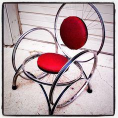 Bike rim Chair - SOLD!
