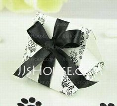 Favor Holders - $4.59 - Favor Box With Pibbon (Set of 12) (050024336) http://jjshouse.com/Favor-Box-With-Pibbon-Set-Of-12-050024336-g24336