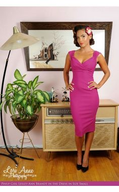 Pinup Couture - Erin Dress in Berry   Pinup Girl Clothing