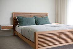 Contour Bed — Asher Israelow - Away Suitcase King Bedroom Sets, Modern Master Bedroom, Small Room Bedroom, Minimalist Bedroom, Wood Bed Design, Bed Frame Design, Bedroom Bed Design, Vintage Bedroom Furniture, Bedroom Furniture Design