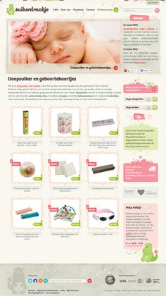 Suikerdraakje homepage design - Duoh!
