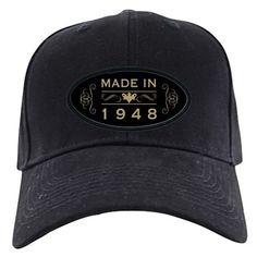 1948 Birth Year Baseball Hat on CafePress.com