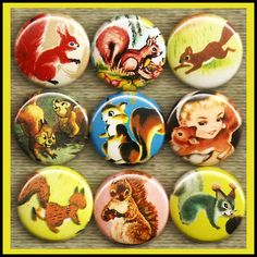 9 vintage cute SQUIRREL  via Etsy.