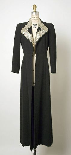 Schiaparelli Evening Coat, ca. 1935