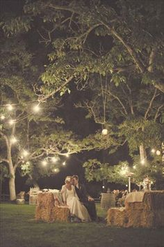 country rustic reception :)