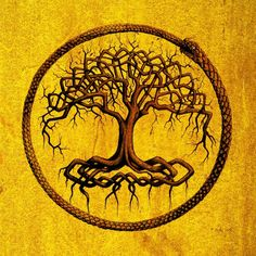 A symbolic representation of Yggdrasil, the Tree-World from Northern Mythology. This piece was commissioned by Lorenzo Brighigni for his series of novels Le Secret des Mondes. Pierre Carles 2012