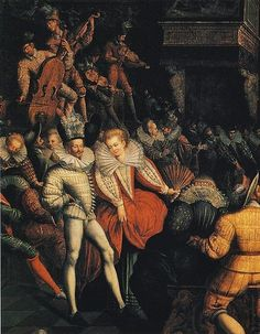 Ball at the Valois Court circa 1580  from Muséé des Beaux-Arts, Rennes
