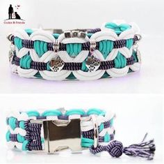 Paracord Hundehalsband Big Wave Paracord Diy, Paracord Bracelets, Paracord Ideas, Dog Crafts, Diy And Crafts, Diy Dog Collar, Dog Collars, Bracelet Crafts, Collar Pattern