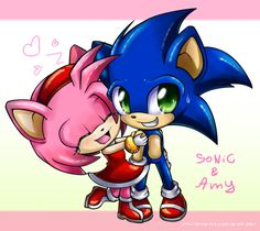 chibi sonic and amy