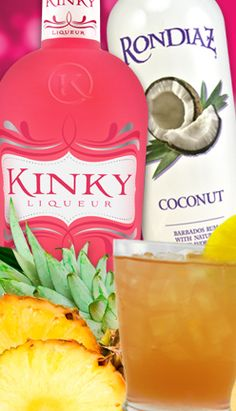 Kinky Breeze: Kinky liqueur, Ron Diaz coconut rum, pineapple juice