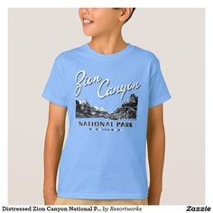 Distressed Zion Canyon National Park Shirt
