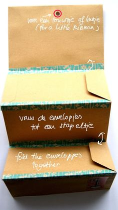 variation on envelopes as a book or letter or card or holding small gift items . . .