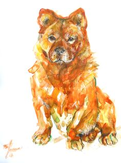 my watercolor- my doggie 3