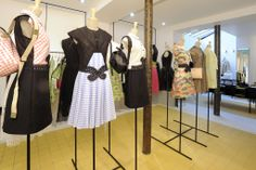 The interior of the new Carven store in the Marais district of Paris.