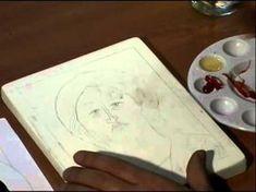 9b Peindre une icône, La grisaille Tutoriel pour apprendre à peindre une icône. - YouTube