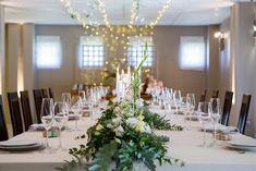 Fairy Lights, Wedding Venues, Table Settings, Table Decorations, Cap, Furniture, Home Decor, Wedding Reception Venues, Baseball Hat