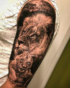 Lion tattoos hold different meanings. Lions are known to be proud and courageous creatures. So if you feel that you carry those same qualities in you, a lion tattoo would be an excellent match