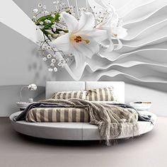 Fotomural 400x280 cm ! Papel tejido-no tejido. Fotomurales - Papel pintado Flor Madera b-A-0239-a-a: Amazon.es: Bricolaje y herramientas