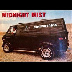 """Midnight Mist"" Ford custom 70's boogie van"