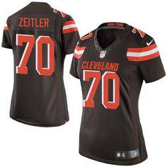 Women's Nike Cleveland Browns #70 Kevin Zeitler Limited Brown Team Color NFL Jersey