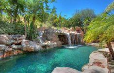 Natural Swimming Pools, Swimming Pools Backyard, Swimming Pool Designs, Lap Pools, Indoor Pools, Pool Decks, Pool Landscaping, Vicki Gunvalson, Lagoon Pool