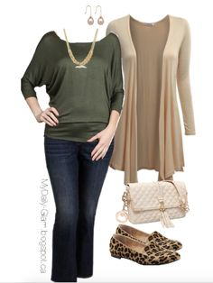 Get the Look - For Less Casual chic, fall / winter look Plus size, Diamond-shaped beauties
