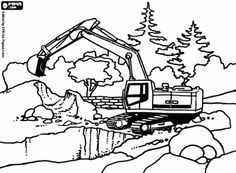 digger coloring pages for kids Coloring Page for boys trucks and
