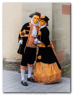 Orange and black... simply elegant ~ Carnival of venice costumes 2015