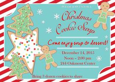 CHRISTMAS Cookie Swap Invitation | Cookie Exchange | Customizable | Baking Party | Christmas Party by PerfectedbyGrace on Etsy