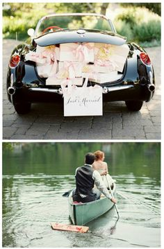 Canoe ... #Wedding #App ♥ For an easy-to-follow 'Wedding Vehicle Guide' ... https://itunes.apple.com/us/app/the-gold-wedding-planner/id498112599?ls=1=8 ♥ For more wedding inspiration ... http://pinterest.com/groomsandbrides/boards/ & magical wedding ideas.