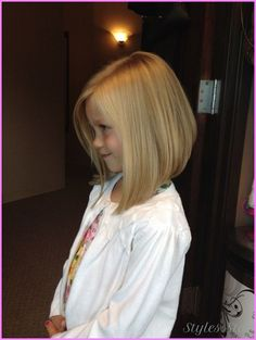 Little girl's bob hair