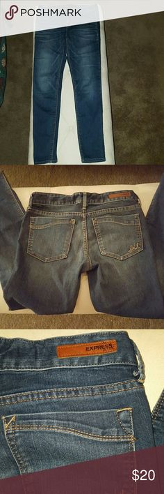 Express jean jegging. Dark wash. Worn just a few times. Perfect condition. Express Jeans Skinny