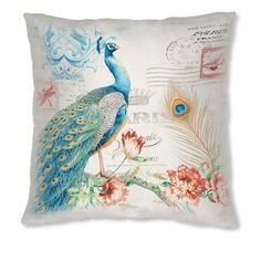 Almofada decorativa - PEACOCK AZUL - Leroy Merlin
