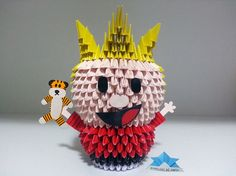 Origami 3D - Calvin and Hobbes