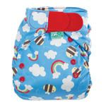 Limited Edition FRUGI by Tots Bots Buzzy Bee  I like these AIOs. There wasn't a snap option but the red aplix is cute.