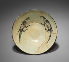 Bowl with Two Birds, 900s Iran, Nishapur or Central Asia, Samarkand, Samanid Period, 10th century.  Bowl with Two Birds | Cleveland Museum of Art