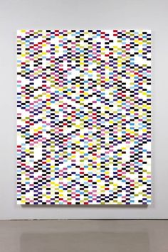 Structered Query Language II   2011 Acrylic on canvas 84 x 62 in/ 213.4 x 157.5 cm   sylvan lionni