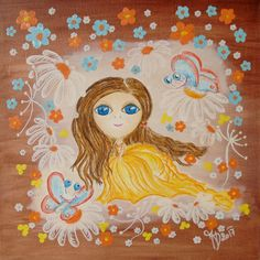 Annabelle - fairy for happiess, reproduction - aquarelle paper, format 20x20cm, USD 30,00 + packing and postage