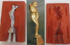 Antique Nude Statuette Mold. Cast your own nude statue.