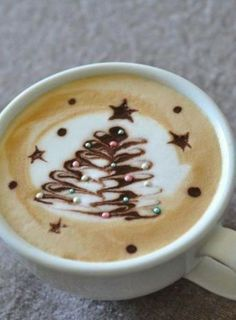 Christmas Tree Coffee art