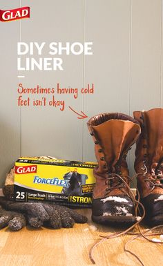 Here's a winter hack to keep your feet dry and warm in the snow. Whether you're building the best snowman ever or setting what just might be a land speed record on a sled, the key to keeping warm is keeping dry. So, stave away the chill and stay out in the snow longer — just line your boots with a GLAD ForceFlex bag.
