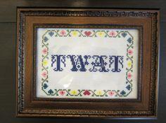 PATTERN Twat Cross Stitch