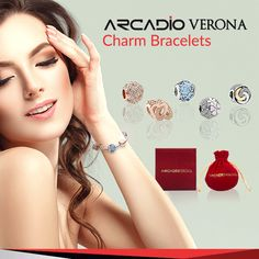 Verona - Silver Charm Bracelets - EVERY CHARM, A BEAUTIFUL MEMORY. Impress the world with the most fascinating Charm Bracelets, tastefully crafted and made of pure sterling Sterling Silver Silver Charm Bracelet, Charm Bracelets, Silver Charms, Silver Jewelry, Online Shopping Sites, Corporate Gifts, Verona, Eyewear, Silver Shop