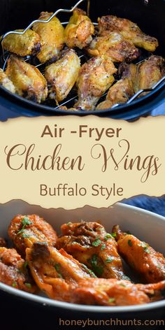 Buffalo Style Chicken wings get an extra crispy start by cooking them in the air fryer. Coated with a buttery buffalo sauce, this is a tasty appetizer the crowd will love. #buffalo #chicken #wings #butter #airfryer #HHrecipes Meals For Two, One Pot Meals, Hunts Recipe, Quick Mac And Cheese, Air Fryer Chicken Wings, Romantic Meals, Dinner For Two, Buffalo Wings, Dinner Recipes