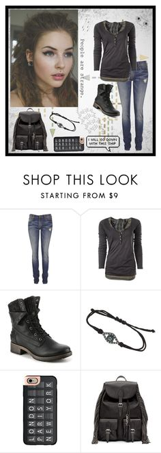 """I will go down with this ship"" by carissa-chaos ❤ liked on Polyvore featuring R13, Maison Scotch, Topshop, Casetify and Yves Saint Laurent"