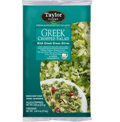 Let the flavors of a picturesque summer in Greece bring joy to your taste buds all year with Taylor Farm's Greek Chopped Salad kit.