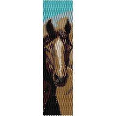 Instant Download Beading Pattern Peyote Stitch Bracelet Chocolate Beauty Horse…