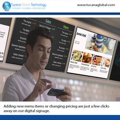 Adding new #menu #items or changing #pricing are just a few clicks away on our #digital #signage. #‎TucanaGlobalTechnology‬ ‪#‎Manufacturer‬ #HongKong